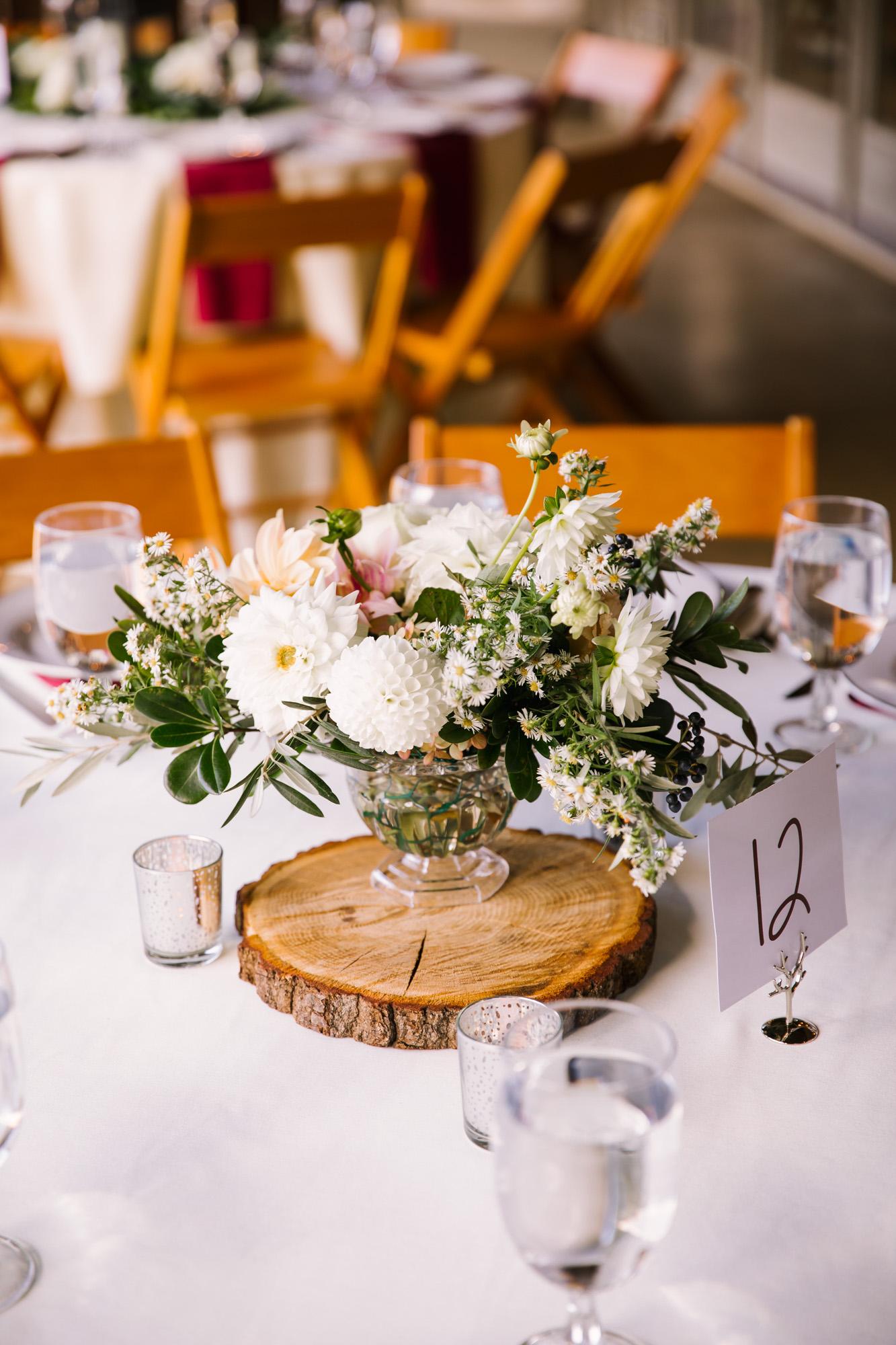 Waynesville NC Wedding Photography | Table Centerpiece Close Up