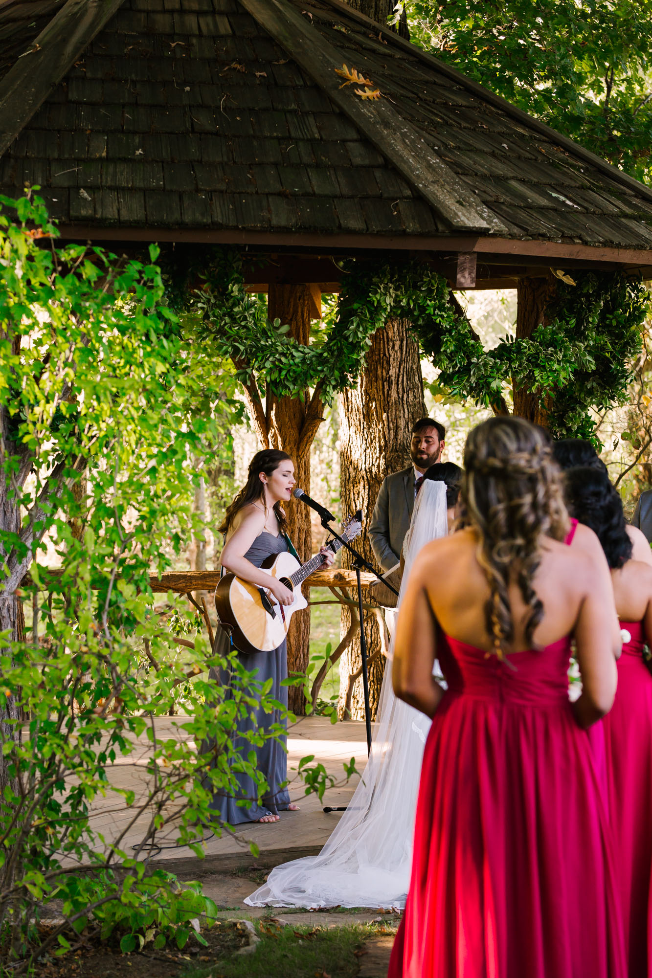 Waynesville NC Wedding Photography | Wedding Ceremony family member singing