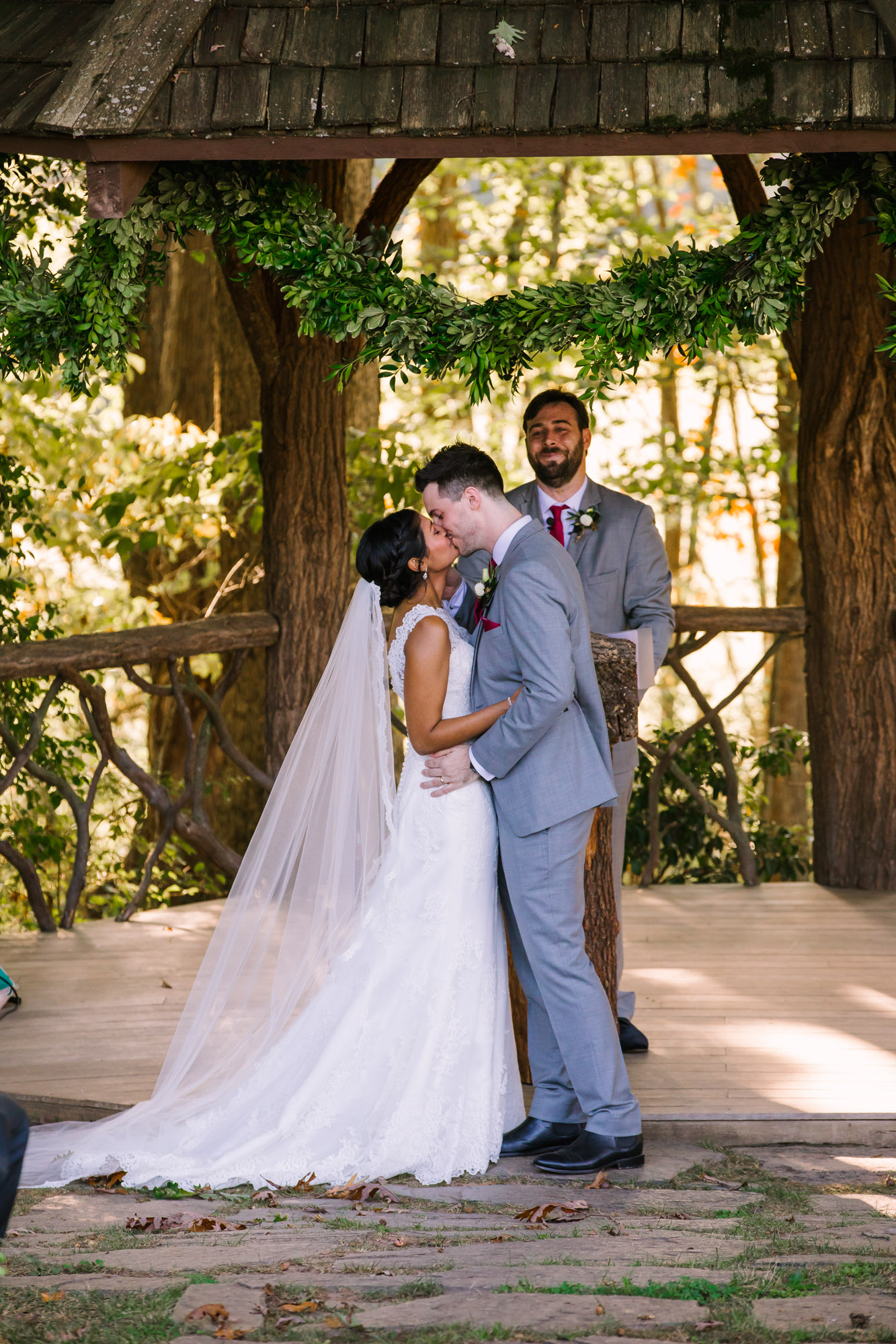 Waynesville NC Wedding Photography | Wedding Ceremony Kiss
