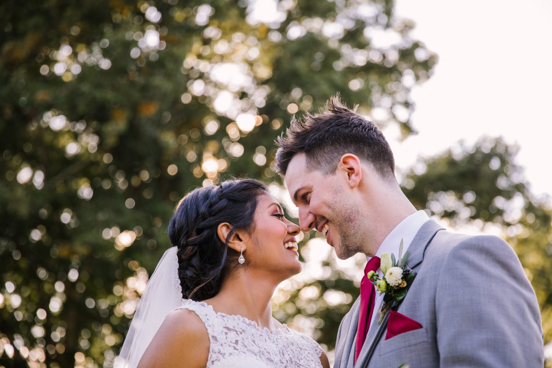 Waynesville NC Wedding Photography | Bride and Groom Portrait Dapple Light