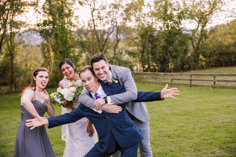 Waynesville NC Wedding Photography | Goofy Family Portrait