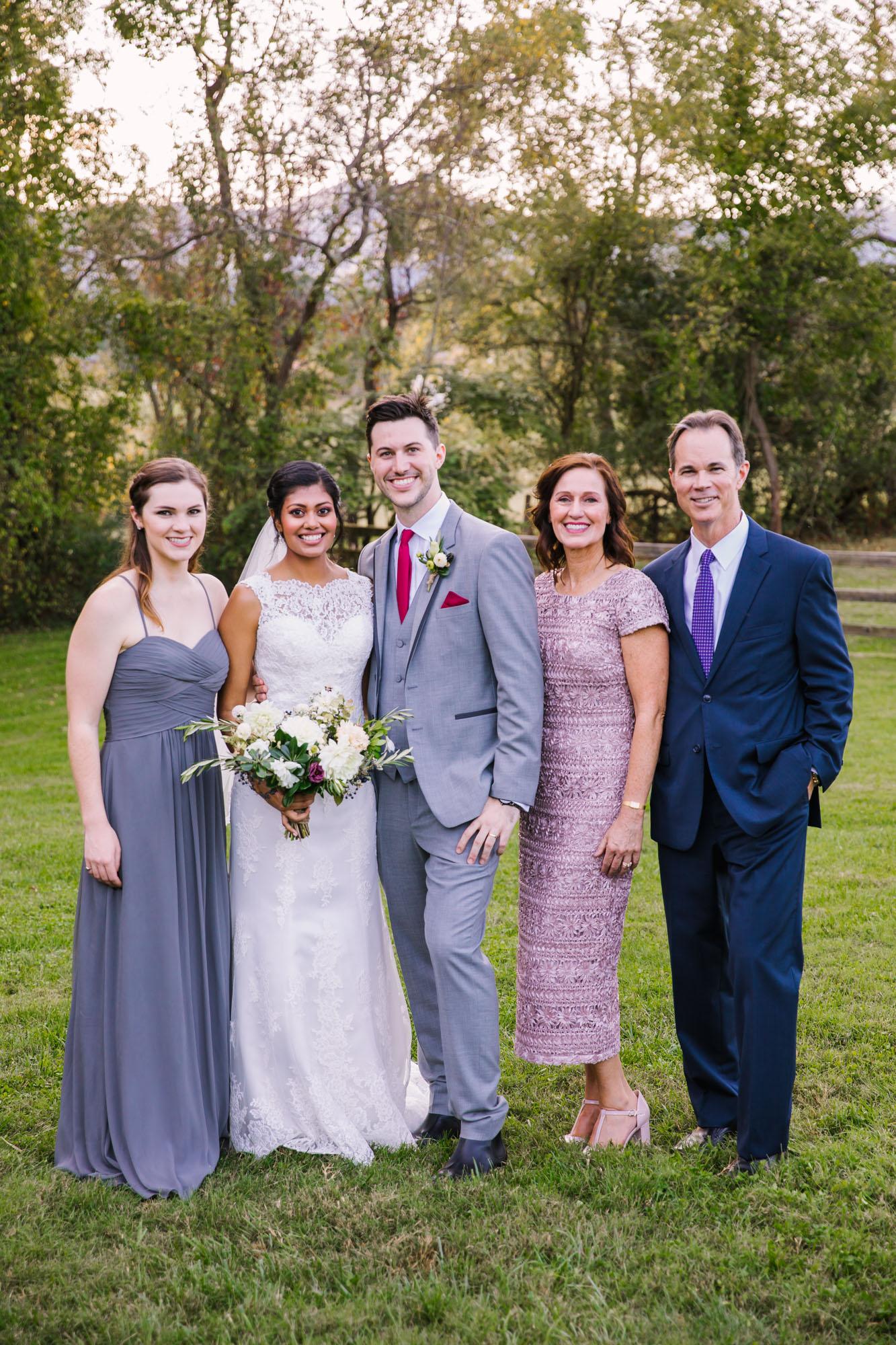 Waynesville NC Wedding Photography | Wedding Family Portrait