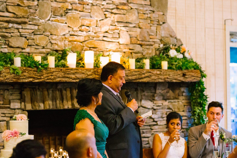 Waynesville NC Wedding Photography | Wedding Reception Toast