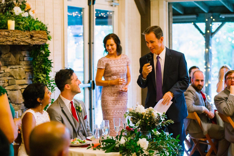 Waynesville NC Wedding Photography | Wedding Speech