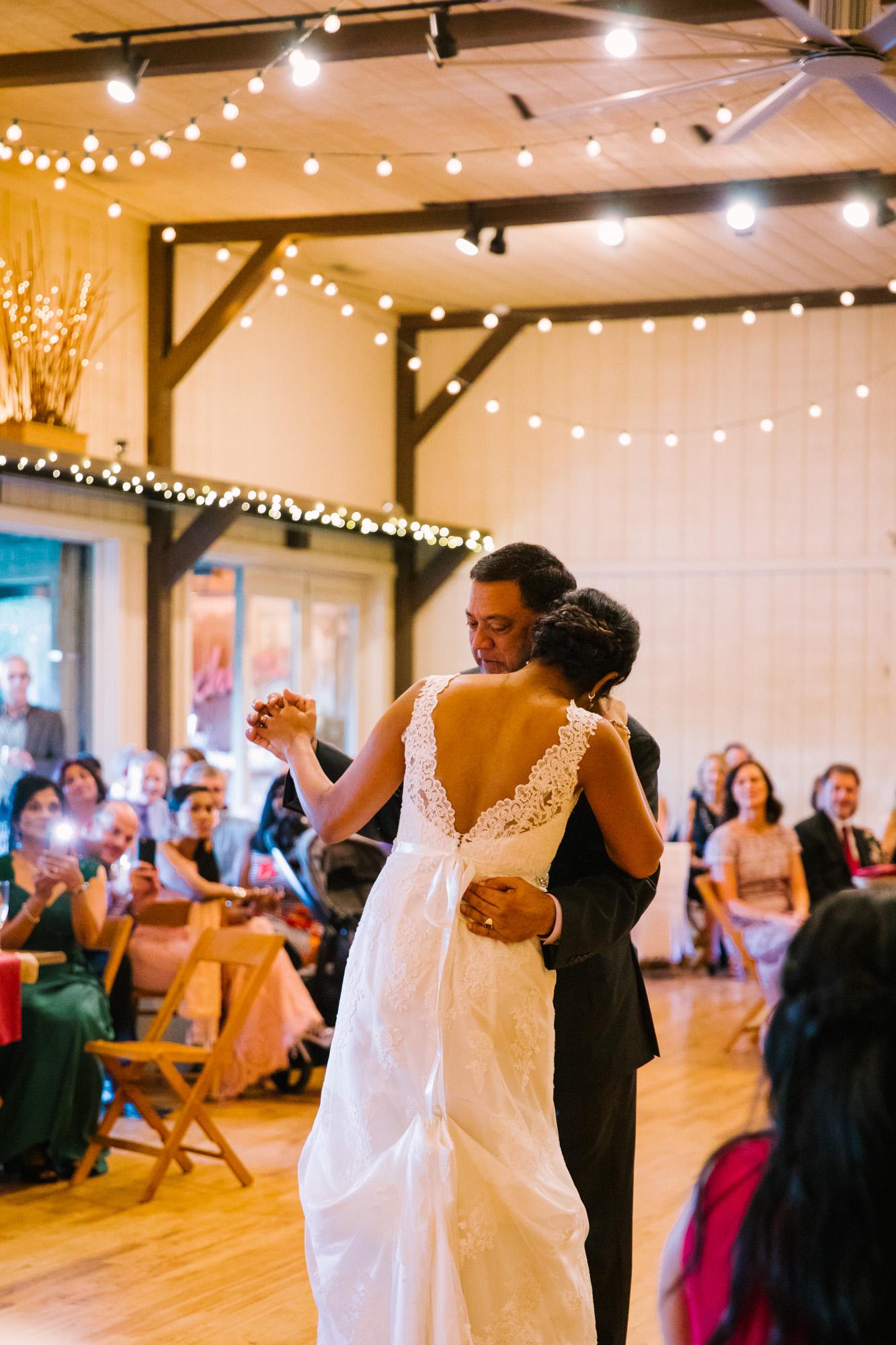Waynesville NC Wedding Photography | Wedding Reception Father Daughter Dance