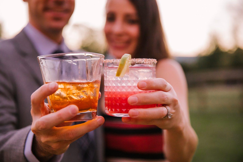 Waynesville NC Wedding Photography | Signature Cocktails Close up
