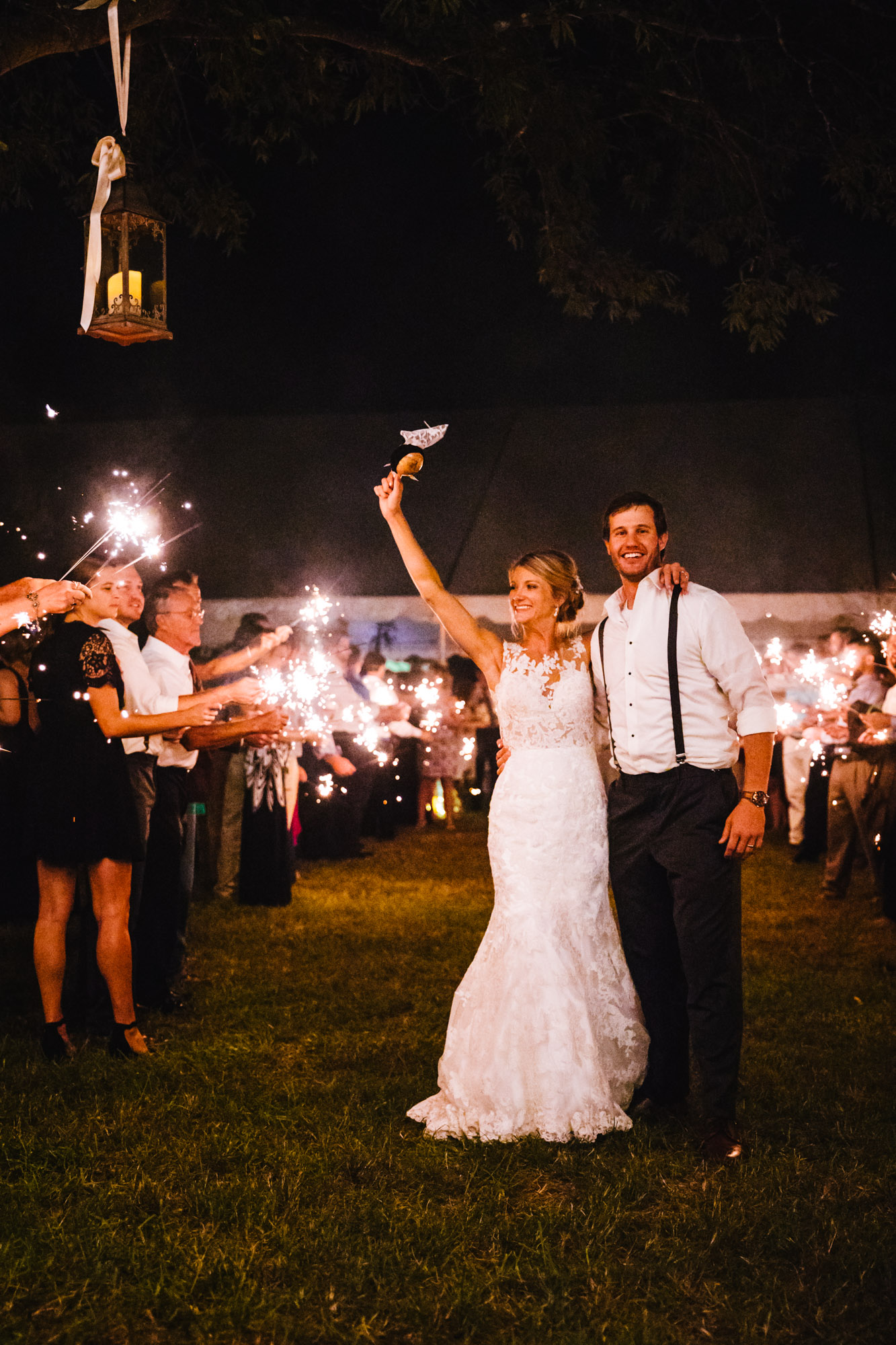 Waynesville, NC Wedding Photography | Sparkler Exit
