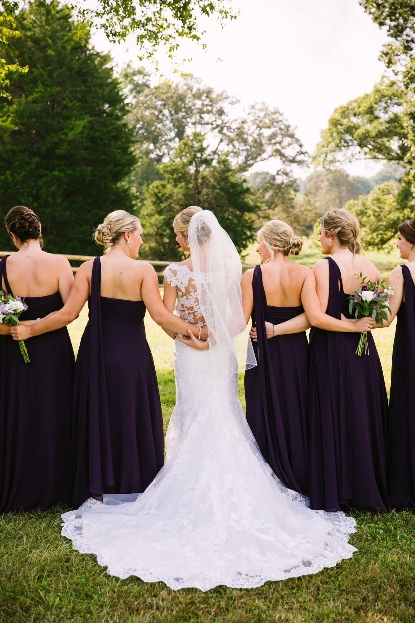 Waynesville, NC Wedding Photography | Bride and Bridesmaids Portrait