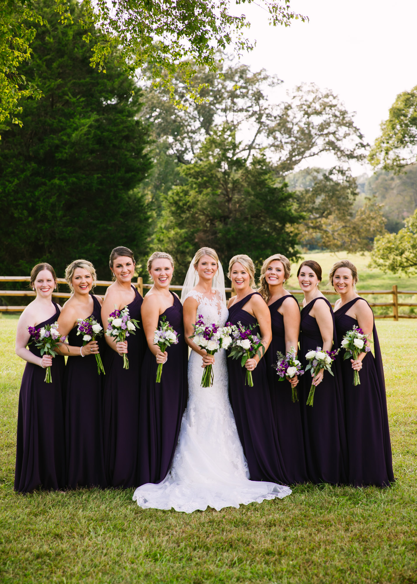 Waynesville, NC Wedding Photography | Bridal Party Portrait