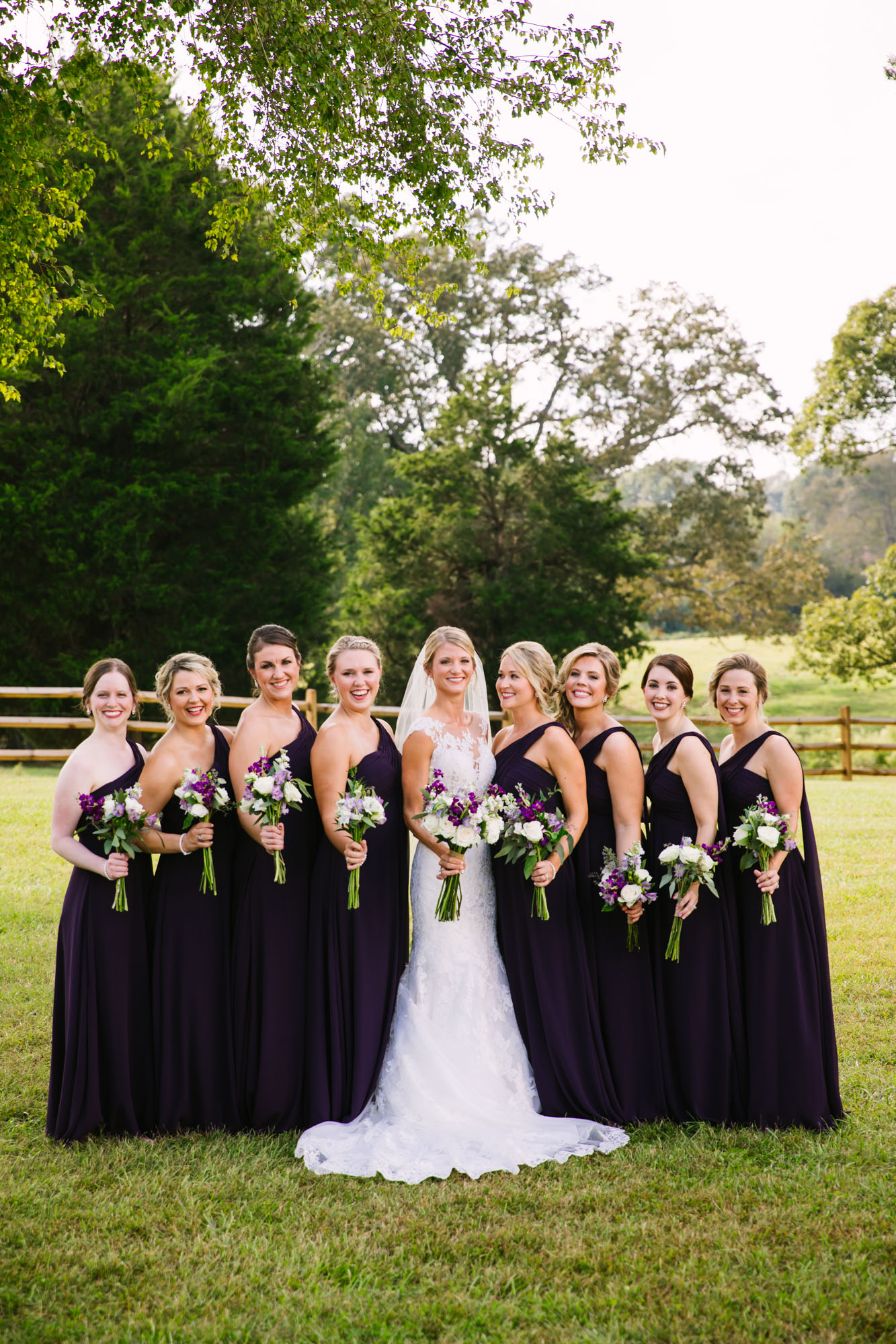 Waynesville, NC Wedding Photography | Bridal Party Laughing