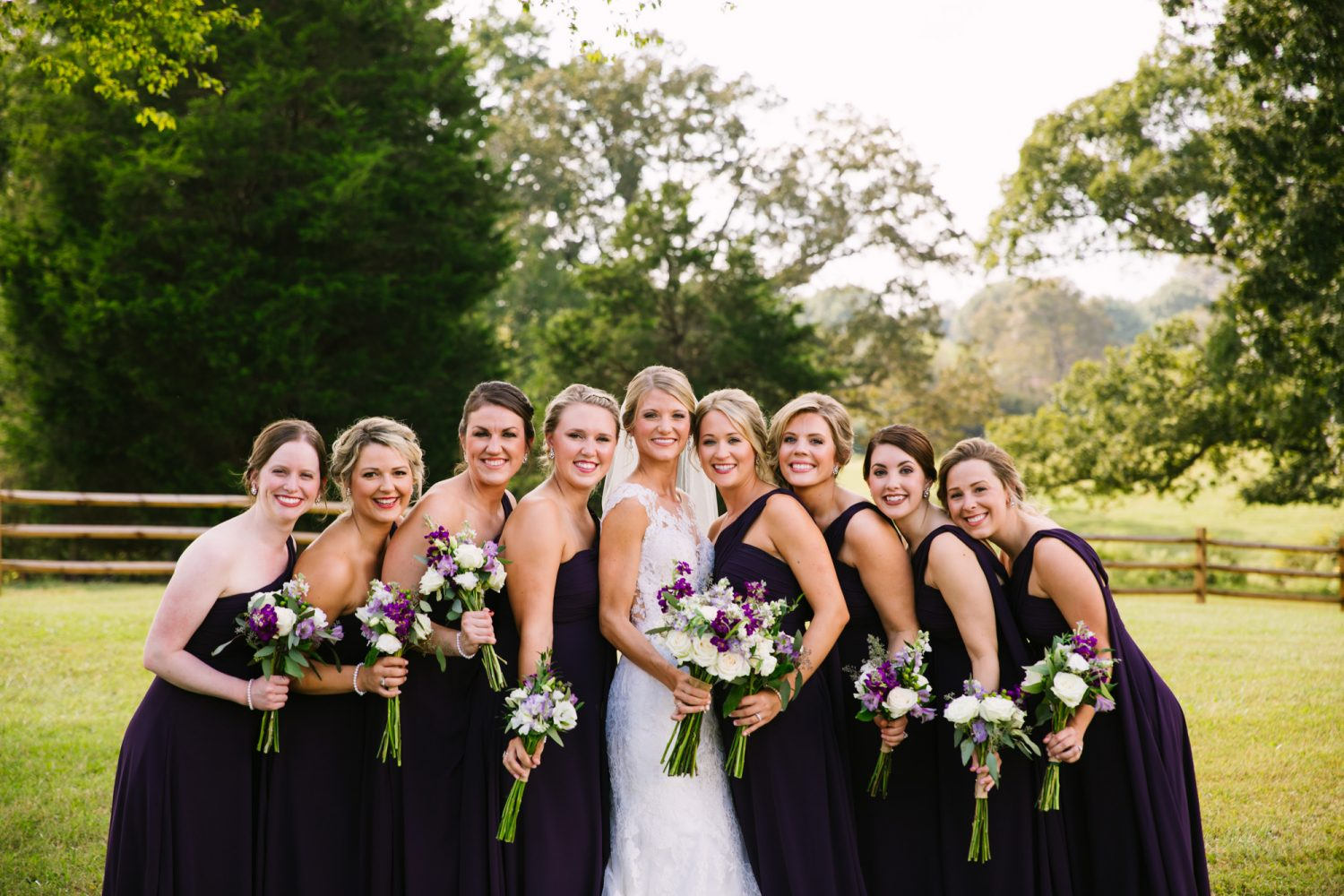 Waynesville, NC Wedding Photography | Bride and Bridesmaids Hugging