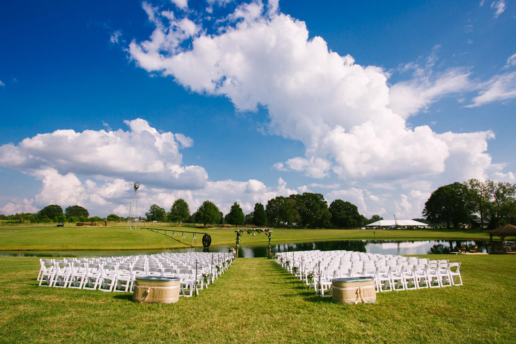 Waynesville, NC Wedding Photography | Wedding Ceremony Site on Farm by the Pond