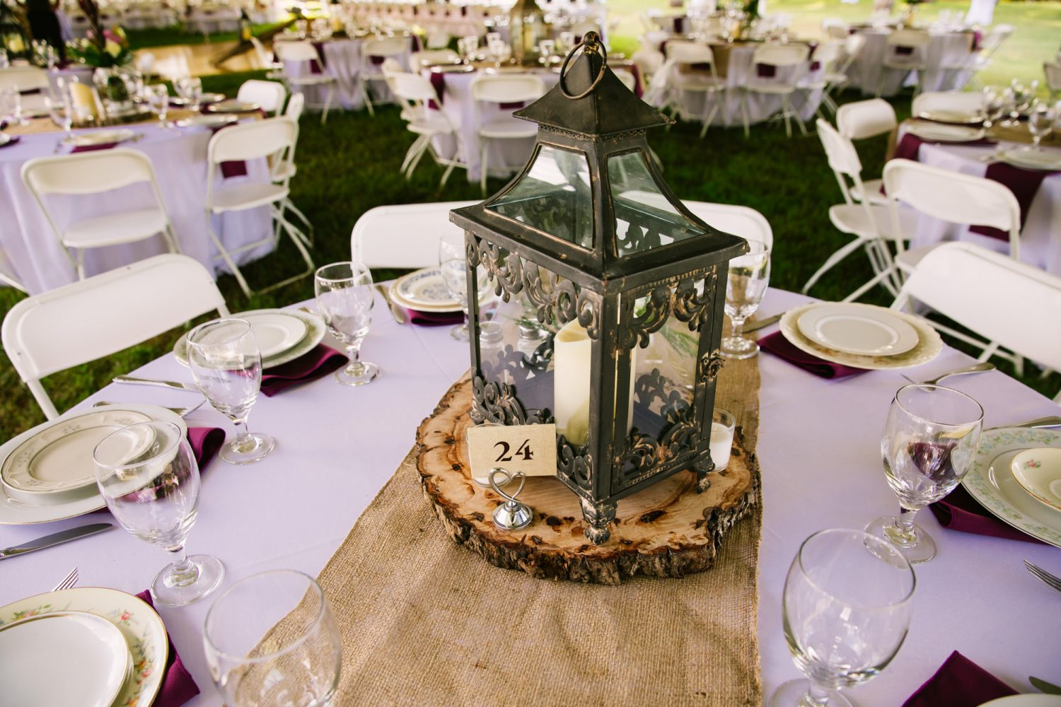 Waynesville, NC Wedding Photography | Wedding Reception Table Centerpiece