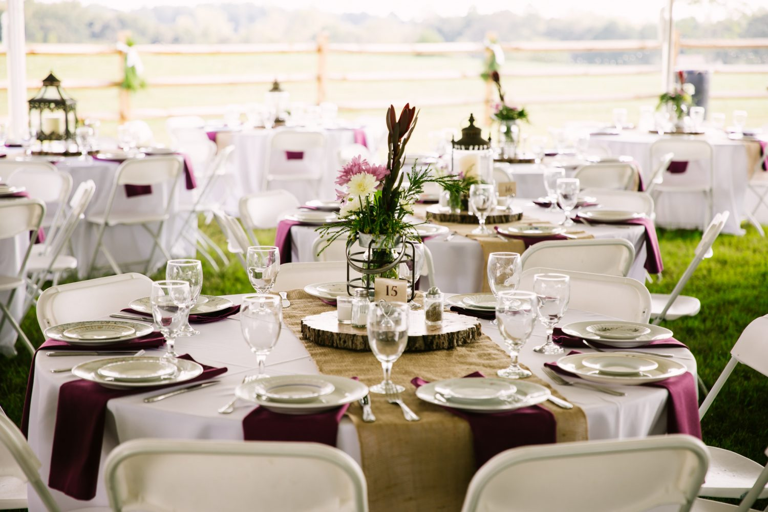 Waynesville, NC Wedding Photography | Wedding Reception Table Settings
