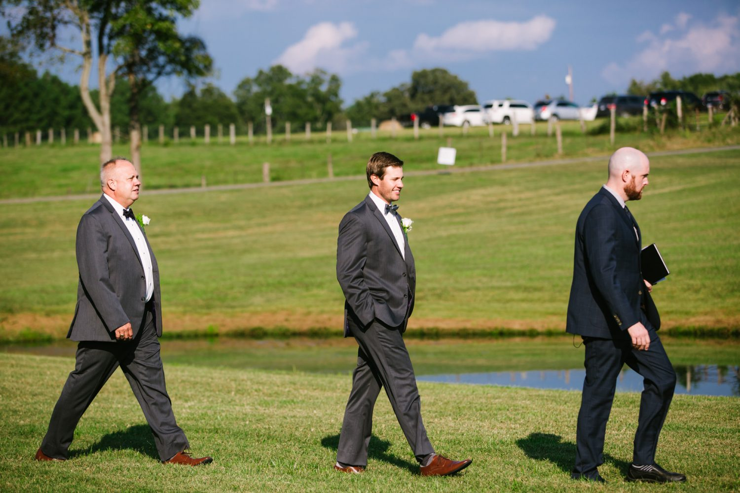 Waynesville, NC Wedding Photography | Groom Entering Ceremony