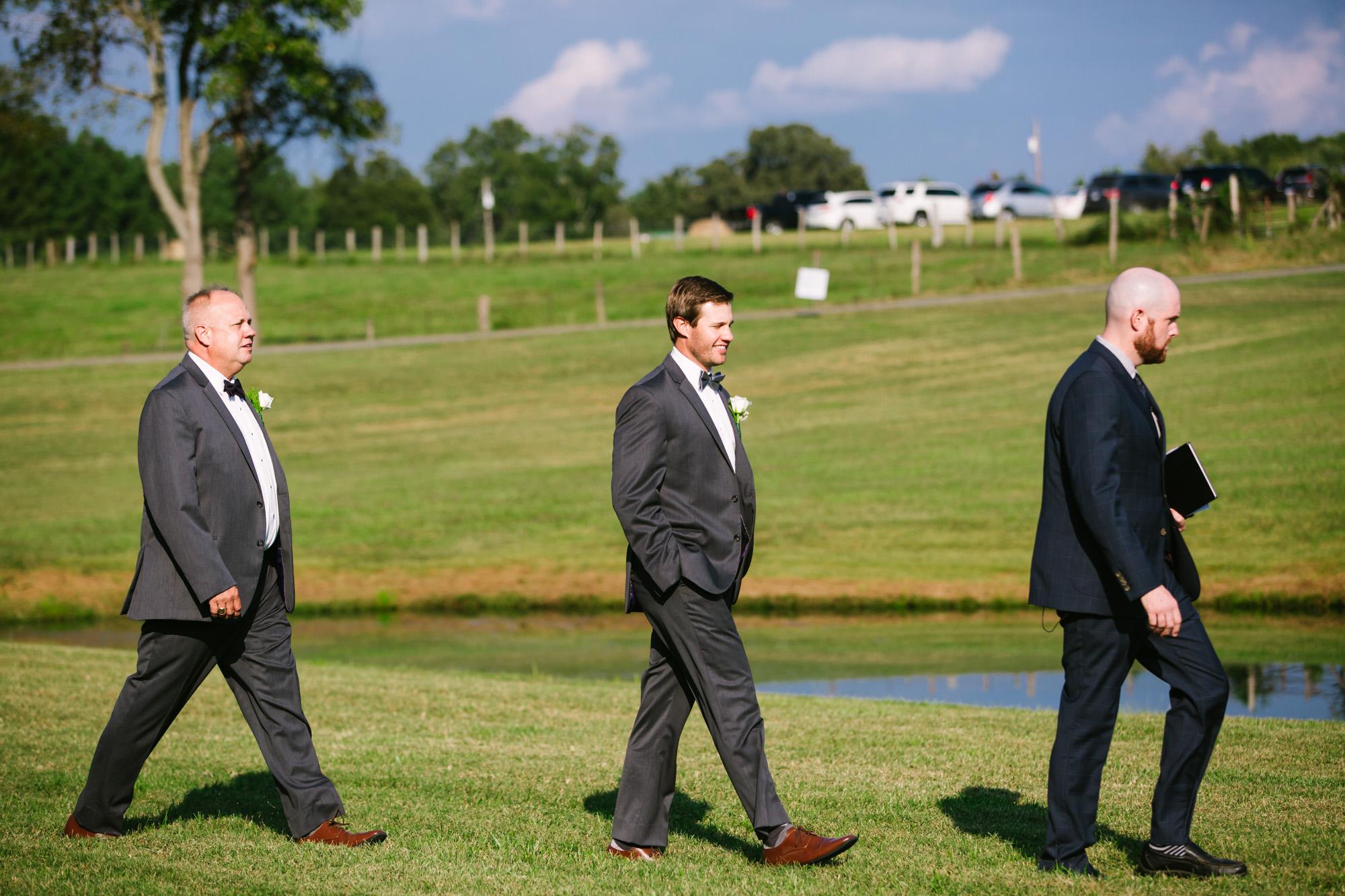 Waynesville, NC Wedding Photography | Groom Entering Ceremony