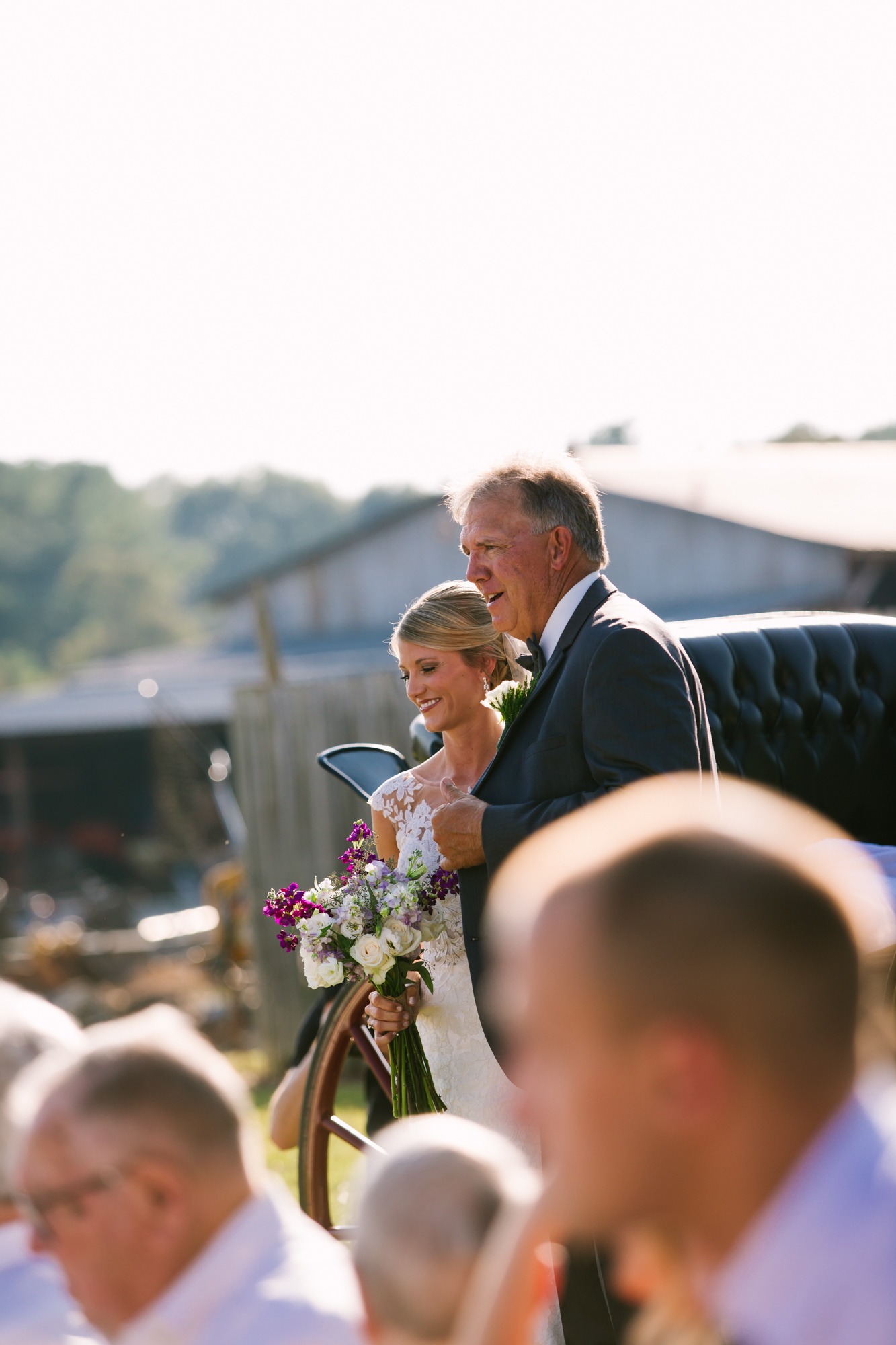 Waynesville, NC Wedding Photography | Father Escorting Bride