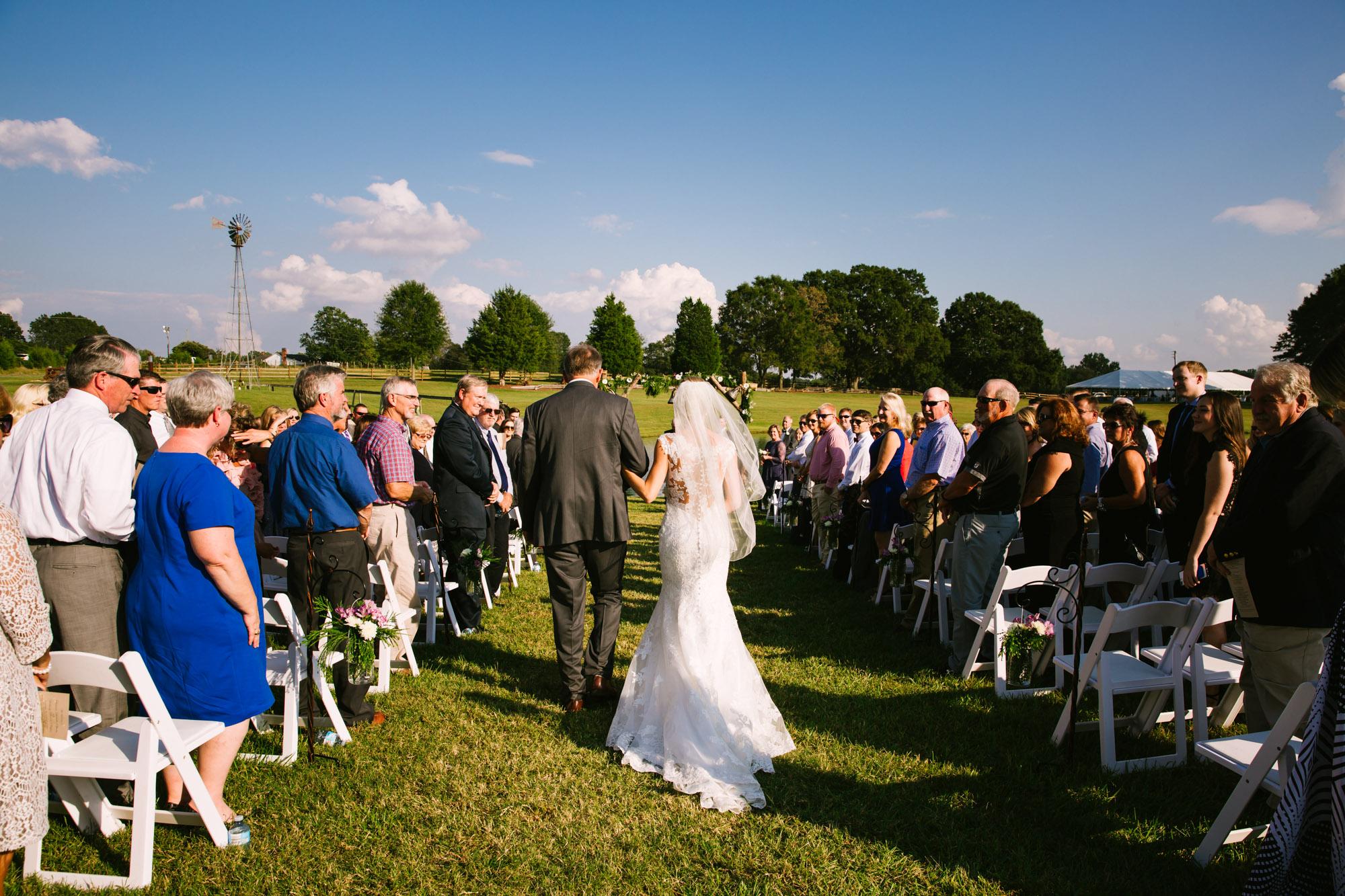 Waynesville, NC Wedding Photography | Wedding Ceremony Bride's Entrance