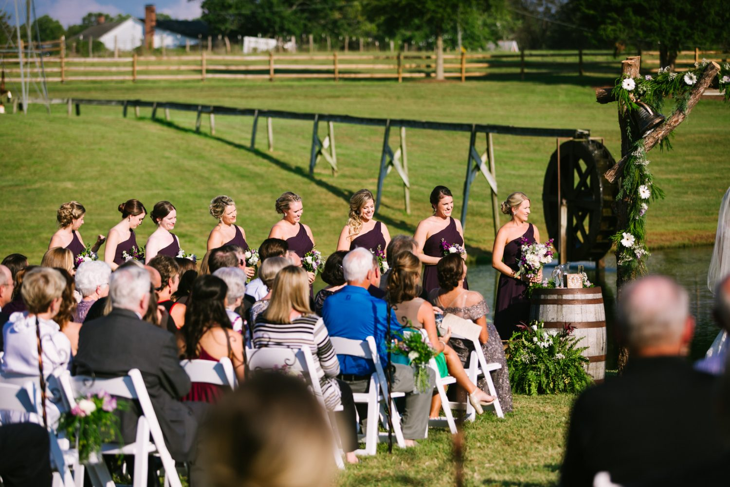 Waynesville, NC Wedding Photography | Wedding Ceremony Bridesmaids Smiling
