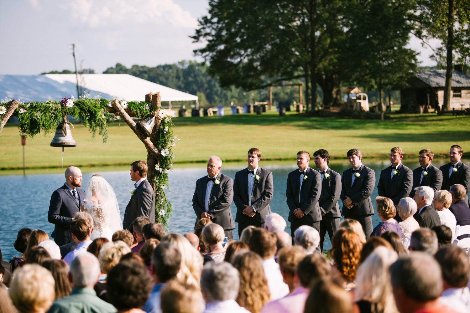 Waynesville, NC Wedding Photography | Wedding Ceremony Groomsmen