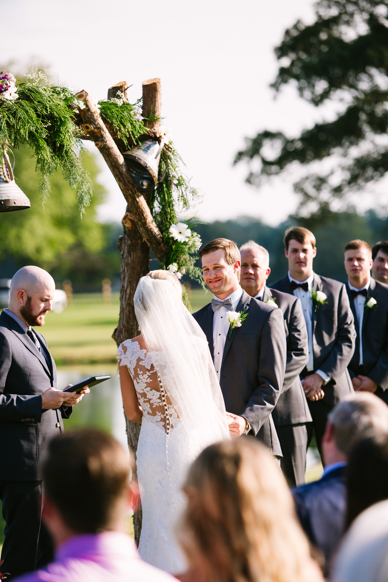 Waynesville, NC Wedding Photography | Wedding Ceremony Groom Smiling