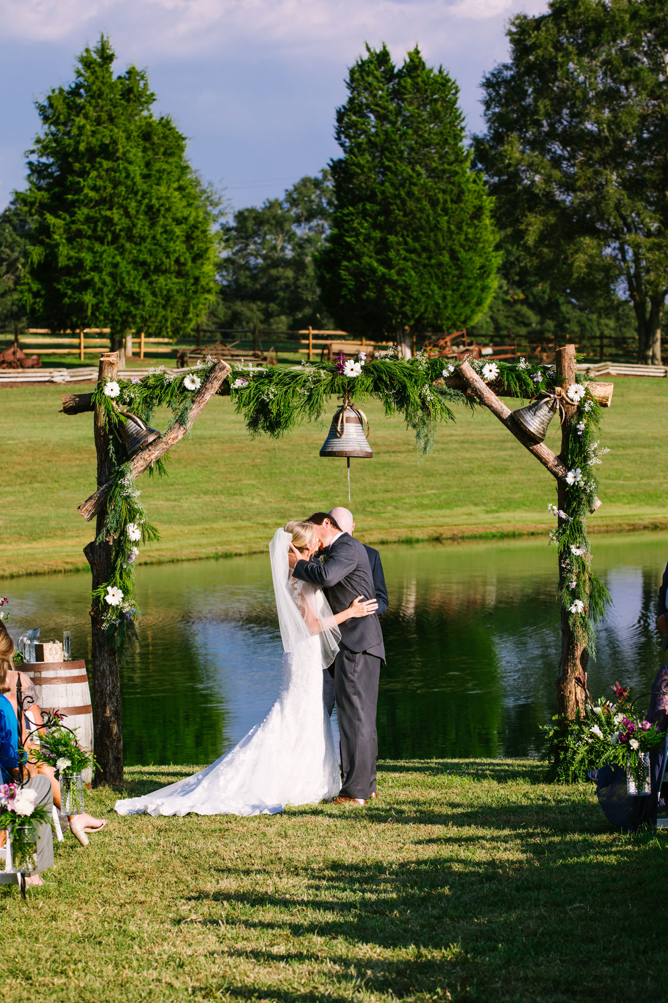 Waynesville, NC Wedding Photography | Wedding Ceremony Kiss