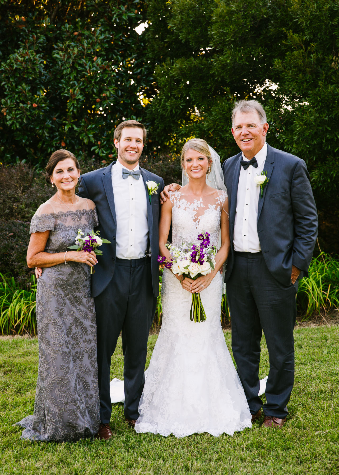 Waynesville, NC Wedding Photography | Wedding Family Portrait full Body