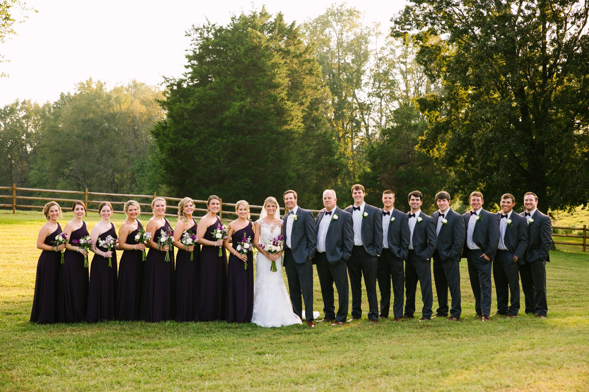 Waynesville, NC Wedding Photography | Full Bridal Party Portrait