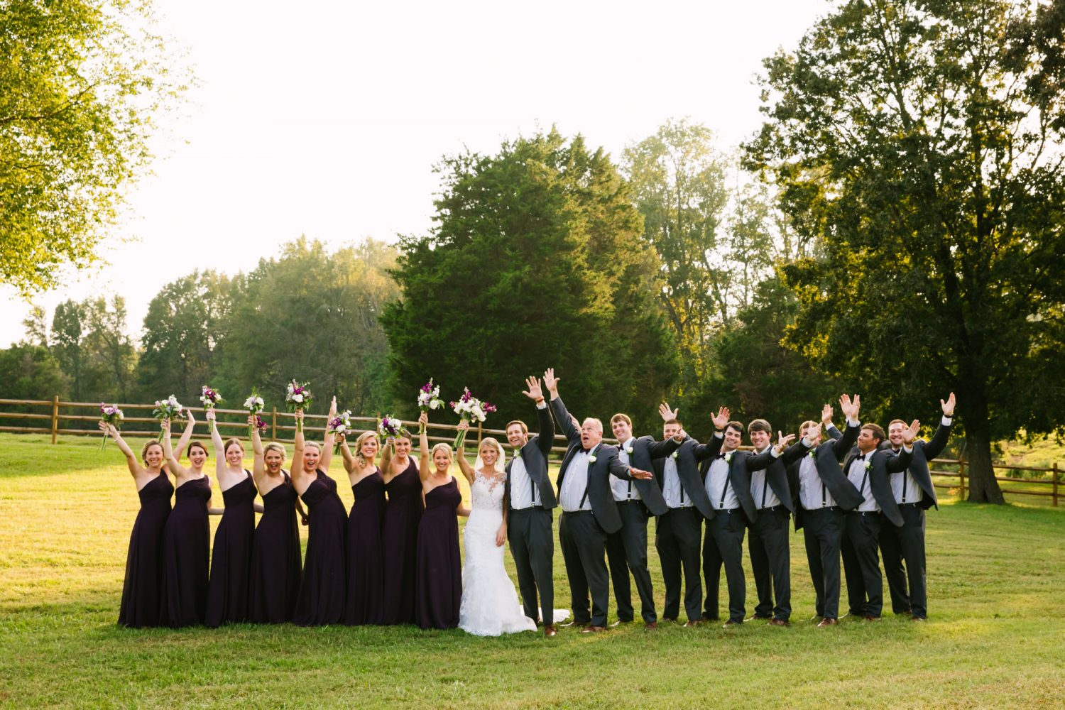 Waynesville, NC Wedding Photography | Bridal Party Hands in the Air