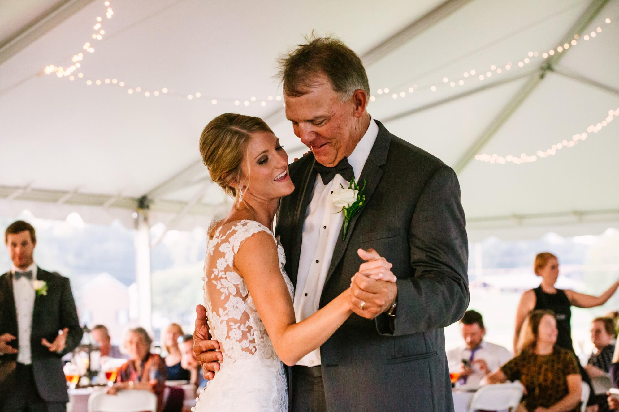 Waynesville, NC Wedding Photography | Father and Bride Dance
