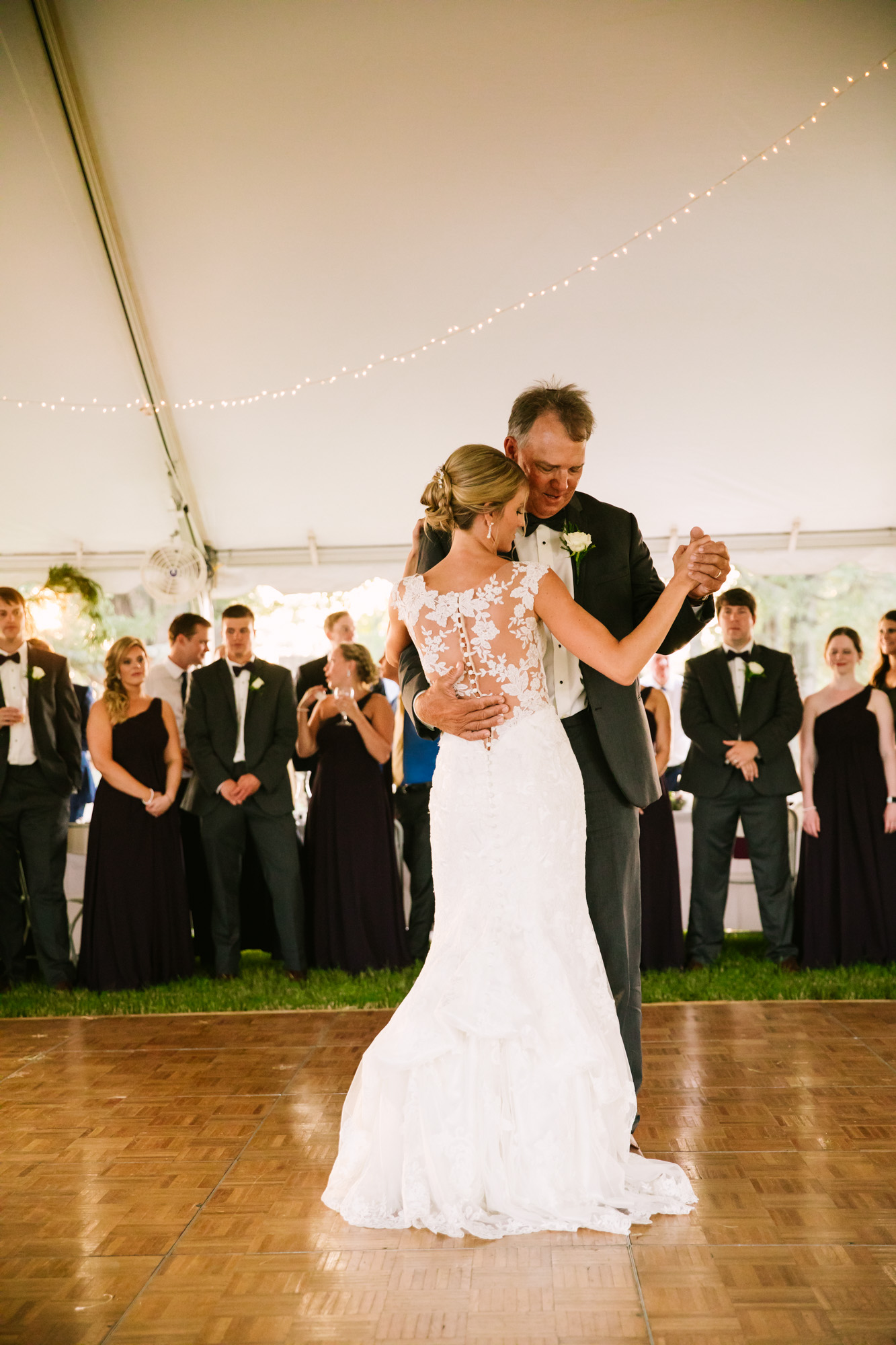 Waynesville, NC Wedding Photography | Wedding Reception Father Daughter Dance