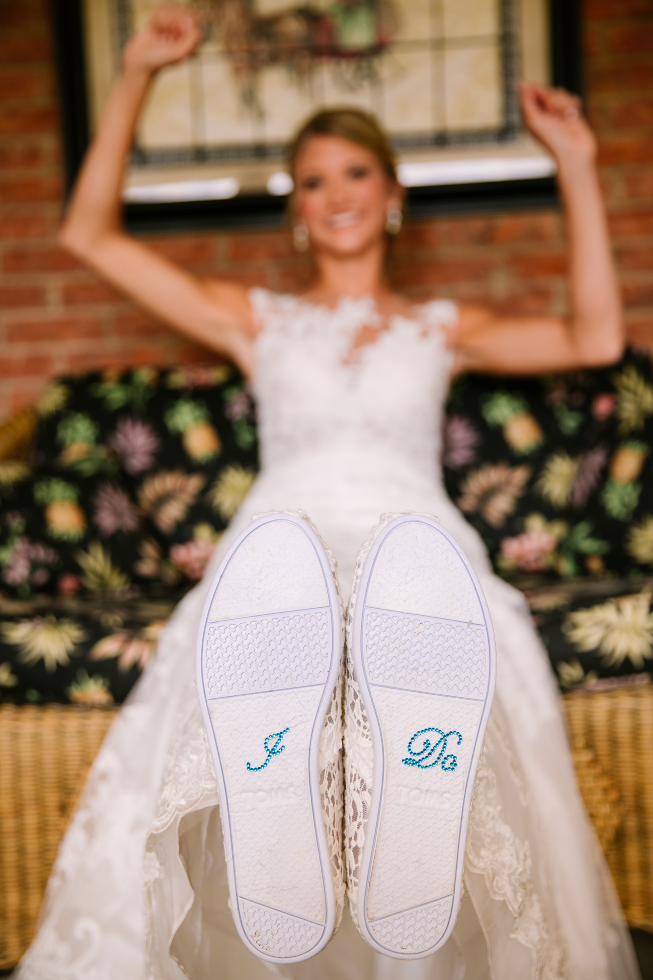 Waynesville, NC Wedding Photography | Bride and I DO Applique on shoes
