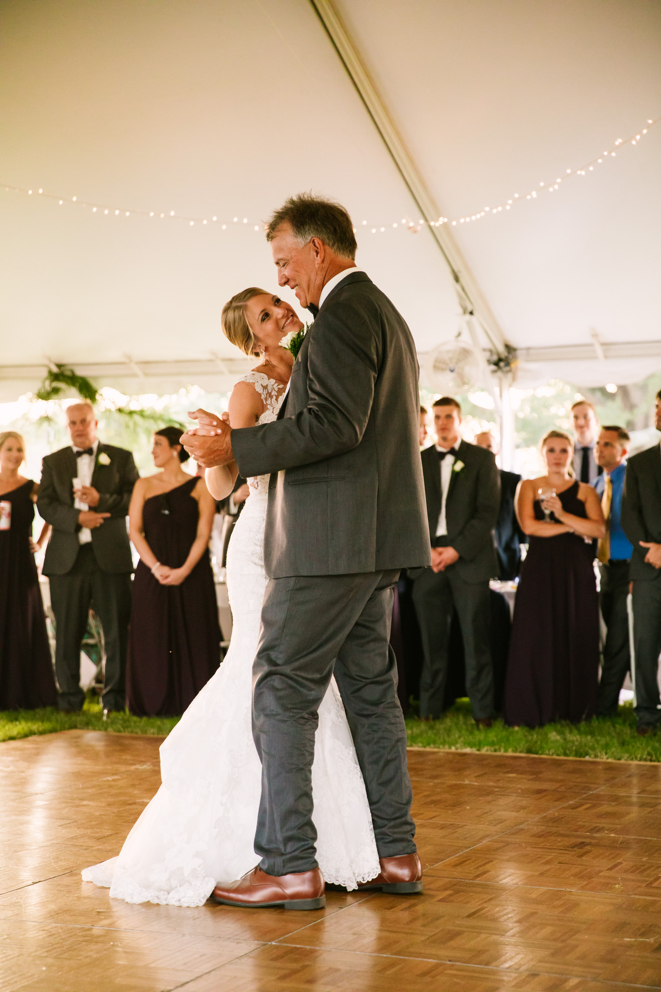 Waynesville, NC Wedding Photography | Father Daughter Dancing and Smiling