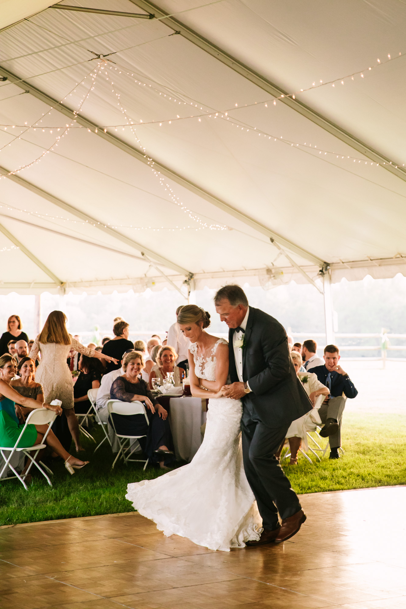 Waynesville, NC Wedding Photography | Father Daughter Dancing in Lockstep