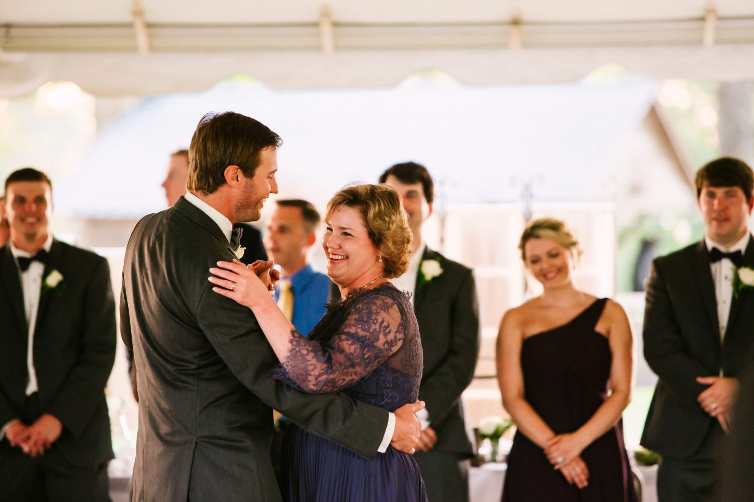 Waynesville, NC Wedding Photography | Mother and Son Dancing and Smiling