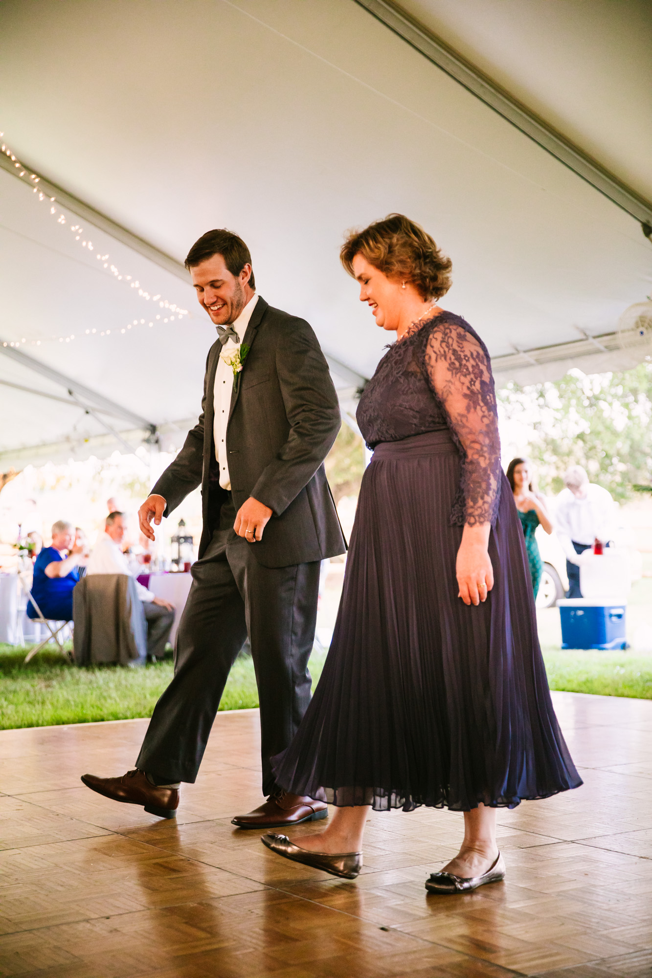 Waynesville, NC Wedding Photography | Wedding Reception Special Mother Son Dance