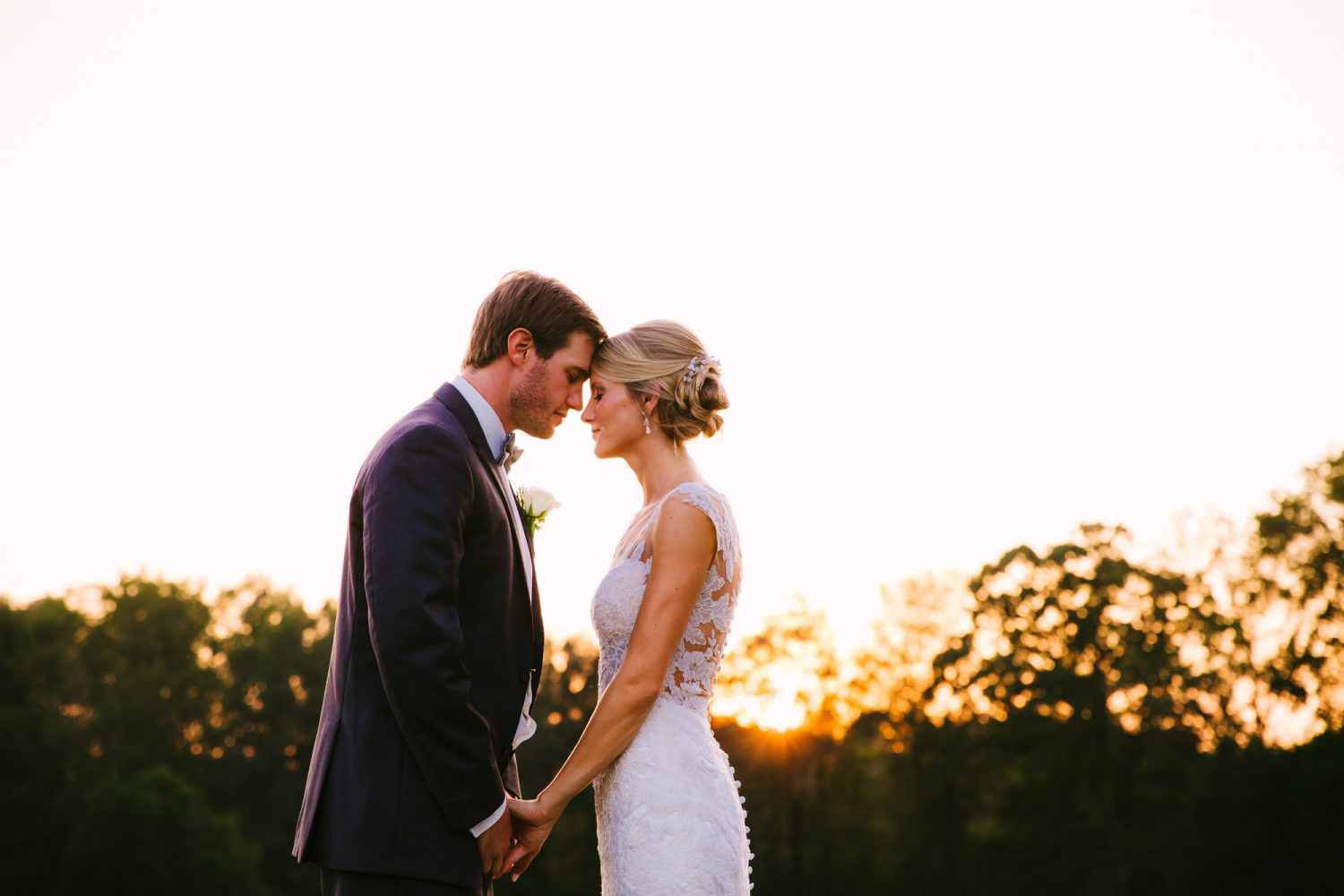Waynesville, NC Wedding Photography | Bride and Groom a Quiet Moment at Sunset
