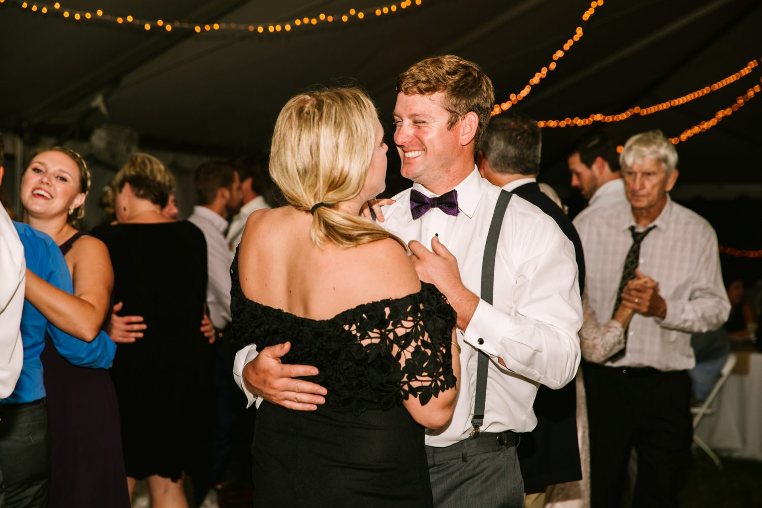 Waynesville, NC Wedding Photography | Wedding Reception Dancing and Smiling